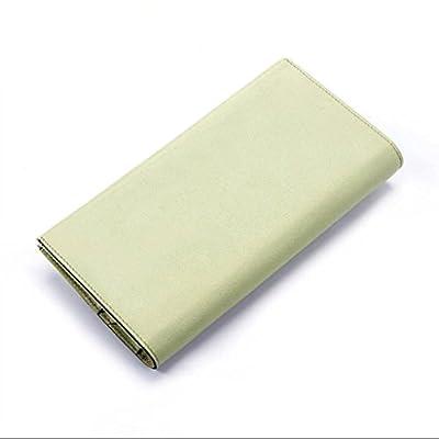 ZLR Mme portefeuille Portefeuille en cuir pour femme Section longue de portefeuille couleur pure Portefeuille New Lady Cowhide