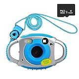 Funkprofi Kamera für Kinder Kinderkamera Fotoapparat Digital Camera Kid Cam Mini Camcorder 5 Megapixel 1,77 Zoll Display Geschenk und Spielzeug für Kinder (Blau mit 16GB TF Karte)