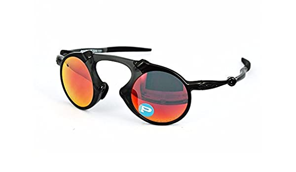 d8c9c05344 Oakley Men s Madman Polarized Iridium Round Sunglasses  Amazon.in  Sports