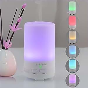 Alierkin 50ml Mini diffusori di oli essenziali ad ultrasuoni aromaterapia umidificatore atomizzatore con cambiamento di colore LED Luce e 3 impostazioni di timer