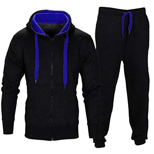 HUYURI Herren Comfort Sweatshirt Set Kapuzenjacke & Stretchy Hose Sets