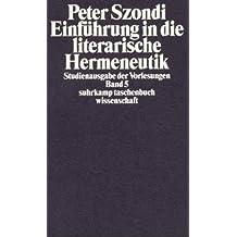 Studienausgabe der Vorlesungen in 5 Bänden (suhrkamp taschenbuch wissenschaft)