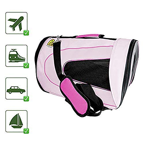 Yslin Tragetaschen Transportboxen Carrier Out Hunde Rucksäcke Weiche Zusammenklappbare Transportbox Für Haustiere, Tragbare Tasche Für Kleine Hunde, Pink Dog Carrier Comfort bedarf -