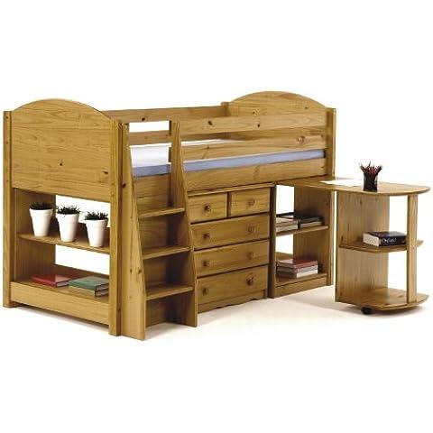 Unico 0,9m letto a soppalco Set 1, in legno di