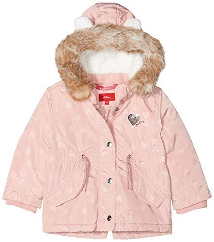 s.Oliver RED LABEL Unisex - Baby Wintermantel mit Teddyplüsch pink AOP 92