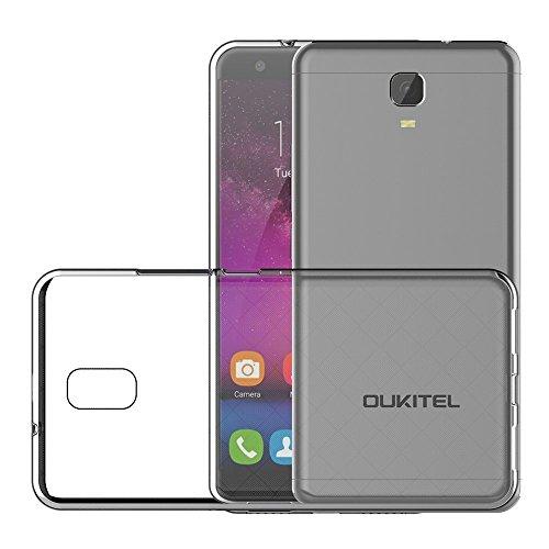 PREVOA  丨transparent Silikon Hülle Cover Case Schutzhülle Tasche für OUKITEL K6000 Plus Smartphone -