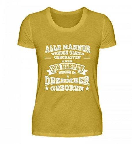 Shirtee Signore Di Alta Qualità Premiumshirt - Sternzeichen - Dicembre Uomini Giallo Oro