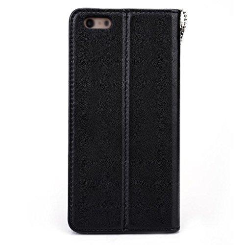Kroo Seattle Series Étui en cuir smartphone avec Active et Indépendant Solt pour cartes pour Apple iPhone 6Plus magenta magenta