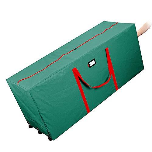 AYAMAYA Christmas Tree Storage Bag–Extra Large Holiday Rolling Impermeabile con Ruote e Manico, per Albero di Natale Fino a 2,7m di Altezza Artificiale Alberi (Verde)
