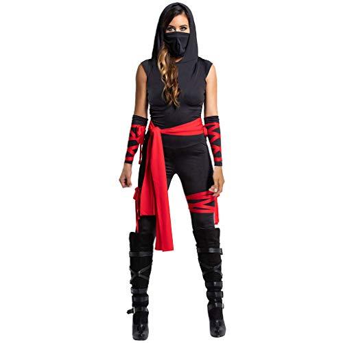 FRIENDGG Damen Halloween KostüM äRmelloses Einteiliges Kleid Fungierende Kleidung Dame Halloween Ninja KostüM Abendgesellschaft Abendkleid Sexy Mode Elegant Rock Casual Dress (Iron Fist Weißen Kostüm)