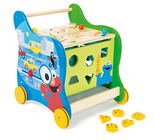 small foot 10969 Sesamstrasse Lauflernwagen FSC 100% Spielzeug, Mehrfarbig
