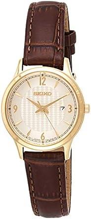 SEIKO Women's Quartz Watch, Analog Display and Leather Strap SXDG