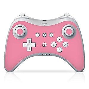 DeinDesign Skin kompatibel mit Nintendo Wii U Pro Controller Folie Sticker pink einfarbig Thermomixmotive