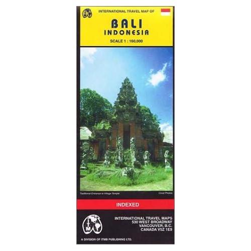 Carte routière : Bali (en anglais)