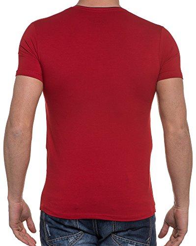 BLZ jeans - Rotes T-Shirt mit V-Ausschnitt Rot