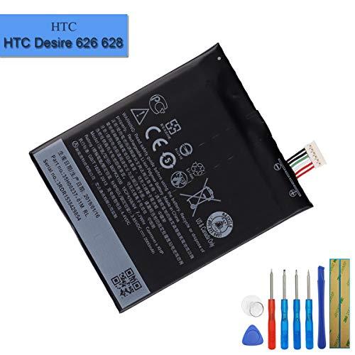 Batterie de Rechange B0PKX100 Compatible avec HTC Desire 626/D626d/D626g/D626n A22 A32 35H00237-00M avec Outils