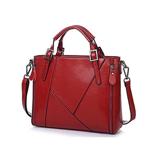 Frau Schultertasche Messenger Bag Handtasche Red