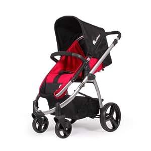 Natineo - Poussette 4 roues FILEO - Rouge - Disponible en rouge et rose