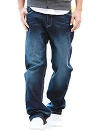 54c3fbe1cb WFL Pantalones Vaqueros Rectos de los Hombres Pantalones Vaqueros Sueltos  XL más Gordo Pantalones nostálgicos Rectos