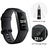 CAVN Compatible with Fitbit Charge 3/Charge 3 Special Edition Screen Protector (6pcs), Full Coverage Flexible Protective Film Screen Cover Saver Ultra Clear Anti-Bubble Screen Protector for Charge 3