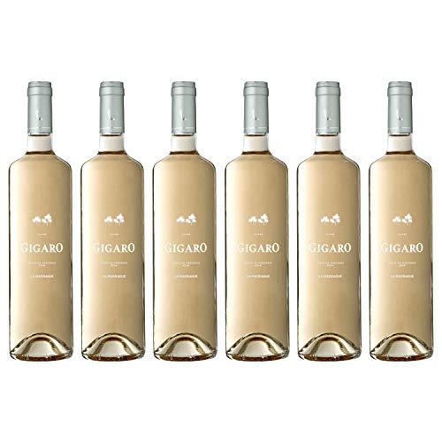 Côte de Provence, 6 bouteilles, Cuvée Gigaro, vin rosé, la Madragu