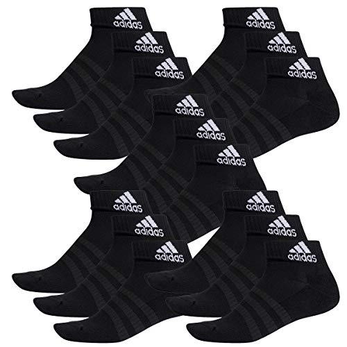 adidas 15 Paar Performance Sneaker/Quarter Socken Unisex Kurzsocke, Farbe:Black, Socken & Strümpfe:37-39 -