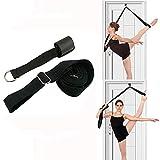 Beenstretcher, Verstelbare stretchband op de deur, Flexibiliteitstrainer met lagere taille, Premium rekapparatuur voor yoga/ballet/dans/gymnastiek Cheerleads, Taekwondo, zwart