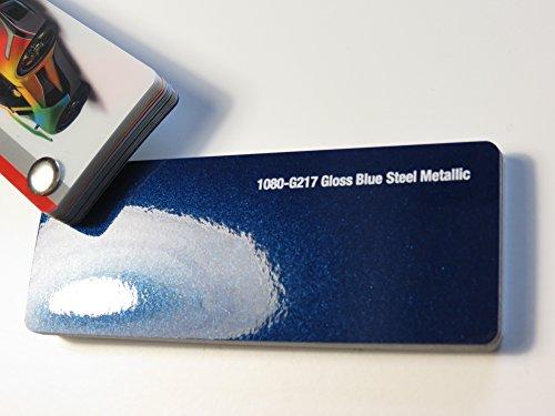 3 M scotchprint 1080 film de «covering» bleu acier métallisé sur 100 x 152 cm