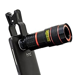 AEMA(TM) Universal 8x Zoom Mobile Phone Telescope Clip Lens for Cell Phone Optical Lens Magnifier