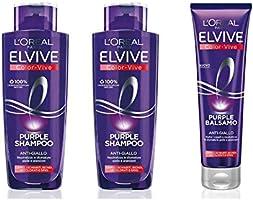 L'Oréal Paris Color Vive Purple Anti-Giallo per Capelli Schiariti, Biondi, Decolorati e Grigi