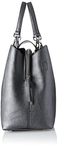 Tommy Hilfiger Damen Shopper Cartella Novità Senza Sforzo, 15.5x25.5x33 Cm Mehrfarbig (peltro / Nero)
