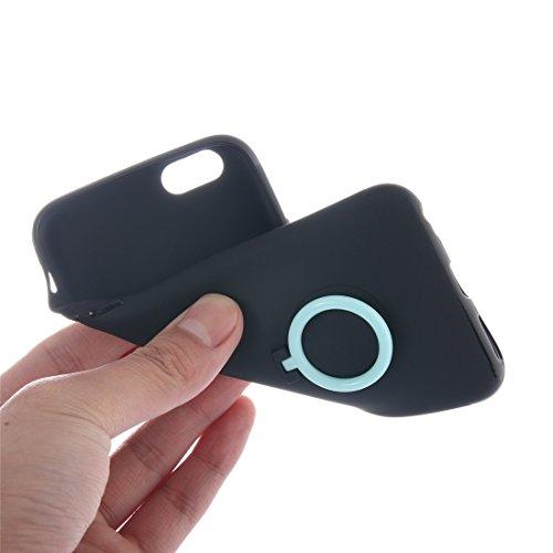IPhone 7 Fall Ultra dünner weicher TPU schützender rückseitiger Abdeckungs-Fall mit Ring-Halter-Standplatz für iPhone 7 Fall by diebelleu ( Color : White ) Green
