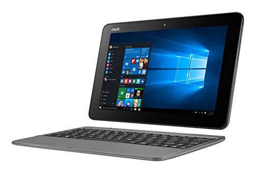 Asus T101HA-GR004T 25,7cm (10,1 Zoll Glare Type) 2-in-1 Notebook (Intel Atom, 64 GB Flash-Speicher, 2 GB RAM, Intel HD Graphics, Win 10 Home) grau