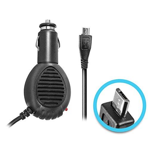 KFZ-Ladekabel micro USB für Samsung Galaxy S5 SM-G900, S3 GT-i9300, S4 i9505, S4 mini i9195, GT-N7000, GT-N7100, Note 3 N9005 - (12V/24V) 2A