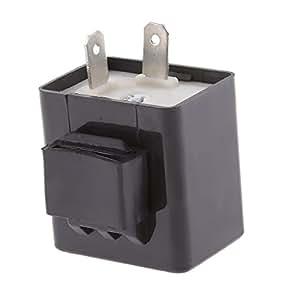 gazechimp 12 V 2 P 2 Pin Einstellbare Frequenz LED Blinker Relais Motorrad Blinker