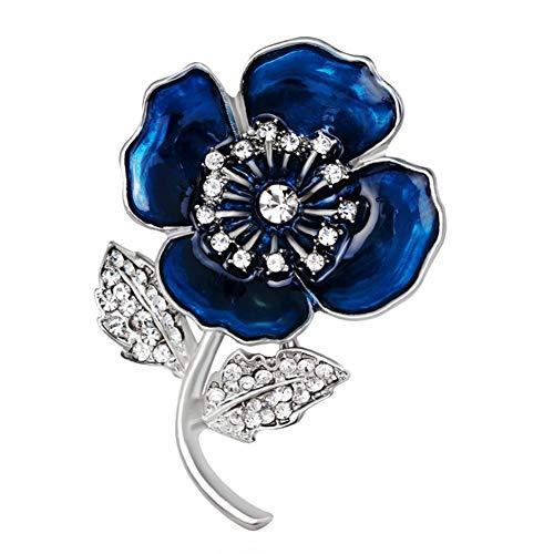 Brosche, Blume Epoxy Zubehör Retro Geschenke Braut Auf Bankette Prom Hochzeiten Dekor Elegante Vintage Schmuck Für Männer Mädchen Kleidung Schal Blue