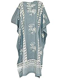 02b81c24d1 Cool Kaftans JAVA Print Cotton Beach Kaftan Caftan Dress One Plus Size  Ladies Womens HandMade Batik