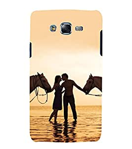 printtech Love Couple Horse Beach Back Case Cover for Samsung Galaxy Grand Prime G530h