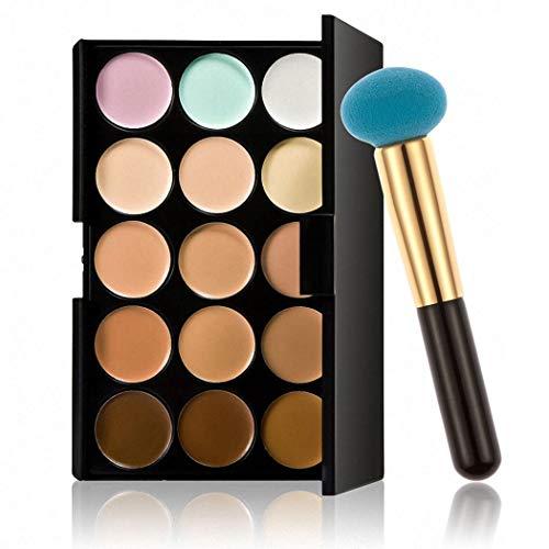 Pagacat Palette de maquillage professionnelle 15 couleurs Pinceaux pour le visage
