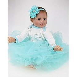 ZIYIUI Lifelike 55 cm 22 Inch Vinilo de Silicona Suave Muñeca Reborn Doll Realidad Bebé recién Nacido Chica Juguete Hecho a Mano magnético Barato Regalo de Navidad