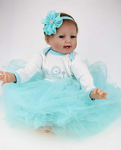 nch 55 cm Reborn Babypuppe Mädchen Lebensechte Newborn Soft Silikon Spielzeug Puppe Realistische Kind Geburtstagsgeschenk ()