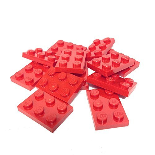 Lego Parts: Plate 2 x 3 (Pack of 12 - Red) By - Wing Lego X 10240