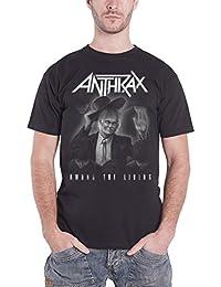 Anthrax T Shirt Amongst The Living Album officiel Homme nouveau Noir