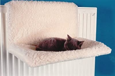 Petlicity ® Warm and Cosy Pet Cat and Dog Radiator Bed – Strong and Durable Hanging Hammock Style Radiator Cradle Bed for Small Pet Cat Kitten Puppy Dog with Soft Machine Washable Cover and Collapsible Frame for Easy Storage