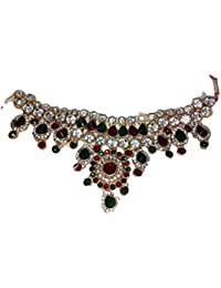 Unique HF Kundan Red Gold Plated Artificial Necklace For Women
