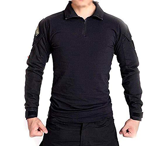 ATAIRSOFT männer BDU Combat Langarm Tarnhemd Mit Ellbogenschutz Schutz für Militärische Armee Airsoft Black L