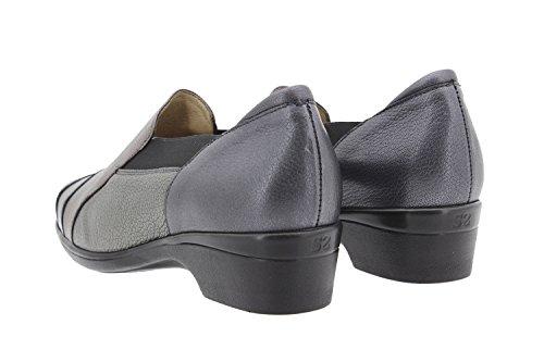 Scarpe donna comfort pelle PieSanto 9609 moccasin casual comfort larghezza speciale Negro
