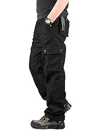 Homme Pantalon Cargo En Coton Multi Poches by CloSoul Direct