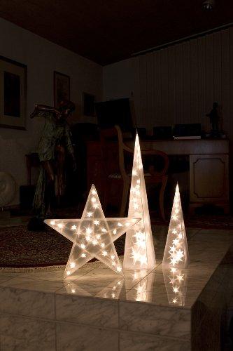Konstsmide 2592-103 LED Kunststoffstern mit Sterneffekt / für Innen (IP20) / 24V Innentrafo / 20 warm weiße Dioden / transparentes Kabel - 6