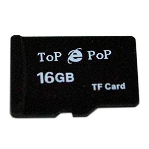 TopePop Class 10 High Speed 16G 16GB Micro SD TF Secure Digital Flash Memory Card with Adapter for Smart Phones HTC Motorola Huawei Galaxy Note 4 3 2 Tablet Notebook
